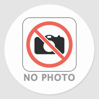 No Photo Classic Round Sticker