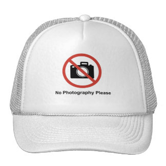 No Photography Hats