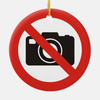 No Photos Allowed Christmas Ornament