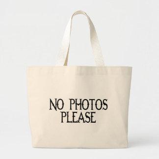 NO PHOTOS PLEASE TOTE BAG