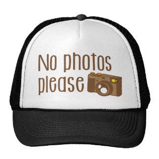 No Photos Please with vintage Camera Cap
