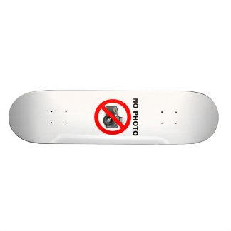 No Photos Sign Skate Decks