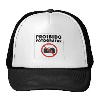 No Pictures Allowed Sign, Brazil Mesh Hats