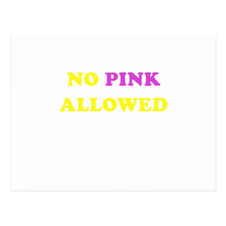 No Pink Allowed Postcards