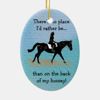 No Place I'd Rather Be - Equestrian Horse Christmas Ornament