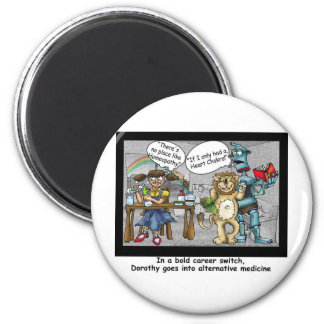 No Place Like Homeopathy Funny Cartoon Gifts & Tee 6 Cm Round Magnet