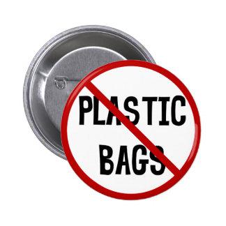No Plastic Bags Button