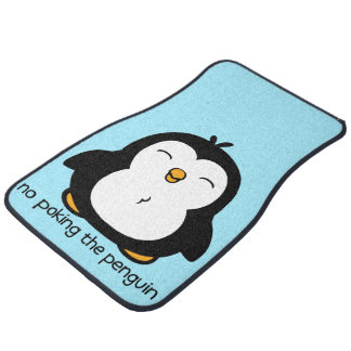 No Poking The Penguin Car Mat