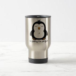 No Poking The Penguin Travel Mug