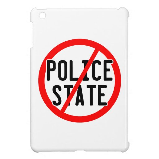 NO POLICE STATE - nwo/illuminati/occupy/bankster iPad Mini Covers
