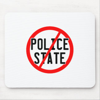 NO POLICE STATE - nwo/illuminati/occupy/bankster Mouse Pad