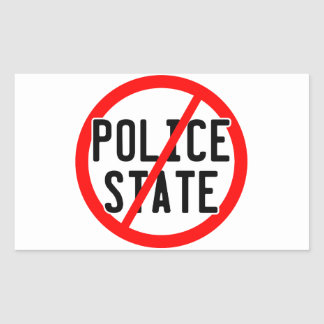 NO POLICE STATE - nwo/illuminati/occupy/bankster Rectangular Sticker
