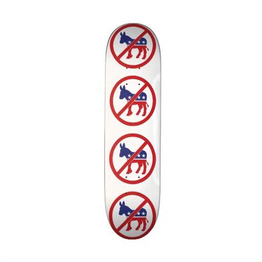No Politics Democrat Donkey Custom Skateboard