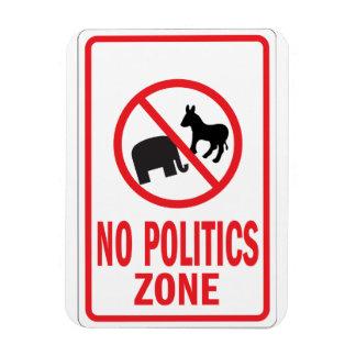No Politics Zone warning sign Magnet