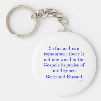 No Praise Of Intelligence In The Gospels Basic Round Button Key Ring