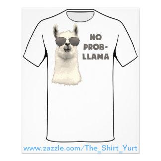 No Problem Llama 11.5 Cm X 14 Cm Flyer