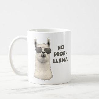 No Problem Llama Basic White Mug