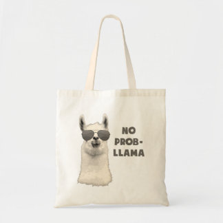 No Problem Llama Budget Tote Bag
