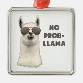 no problem llama christmas ornament