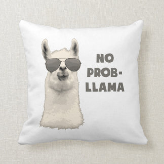 No Problem Llama Cushion