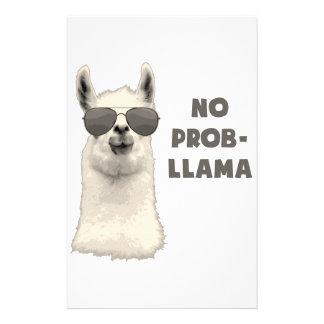 No Problem Llama Stationery