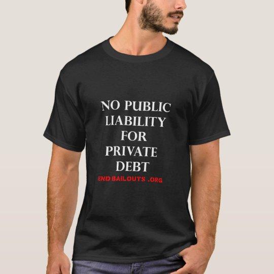 No Public Liability T-Shirt - black