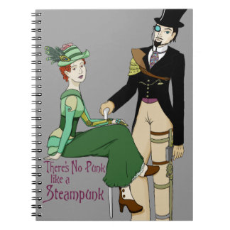 No Punk like a Steampunk Spiral Note Book