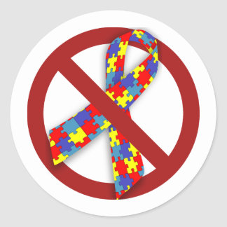 No Puzzle Ribbon sticker