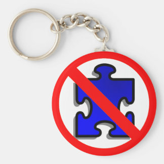 No puzzles for Autism key chain. Basic Round Button Key Ring