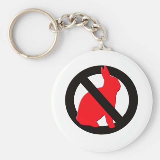 No Rabbits Allowed Keychain