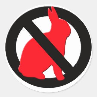 No Rabbits Allowed Round Sticker