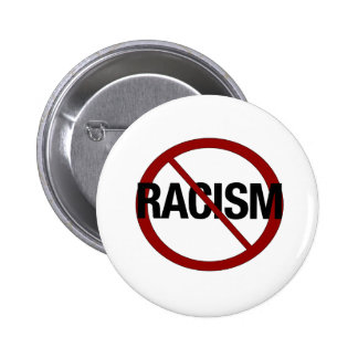 No Racism 6 Cm Round Badge