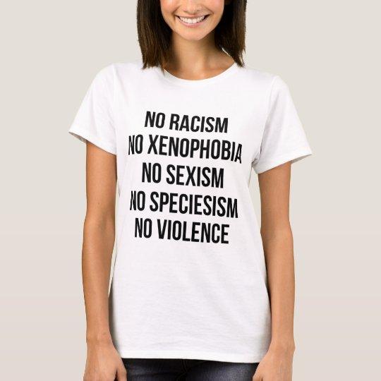 NO RACISM, NO HOMOPHOBIA, NO SEXISM, NO VIOLENCE