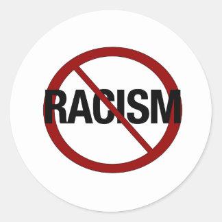No Racism Round Sticker