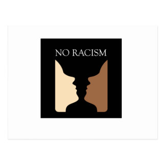 No racism with rubins vase postcard