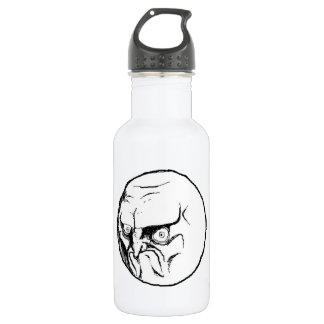NO. Rage Face 18oz Water Bottle