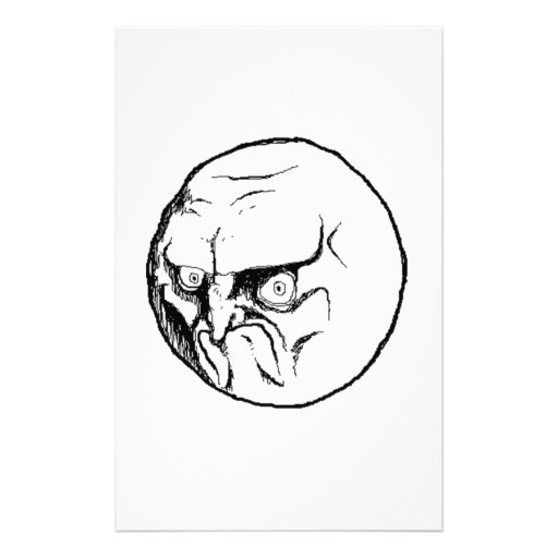 NO. Rage Face Personalized Stationery