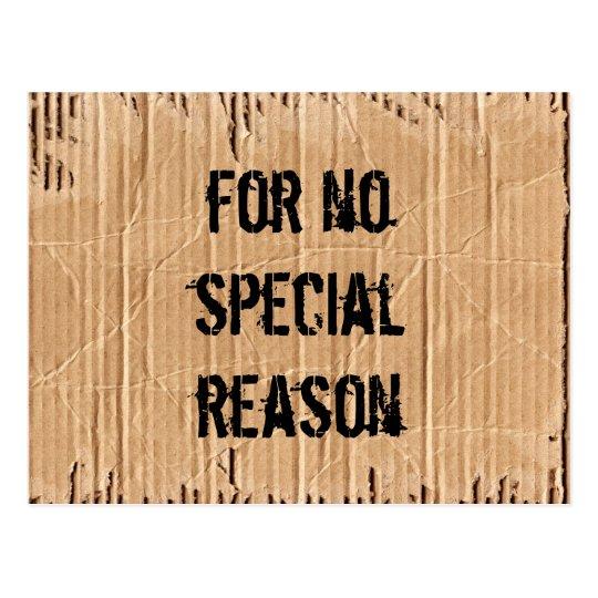 no reason postcard