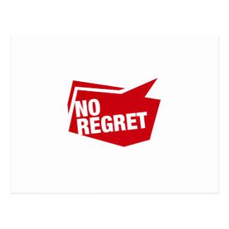 no regret - rot postcard