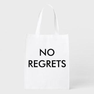No Regrets Reusable Shopping Bag