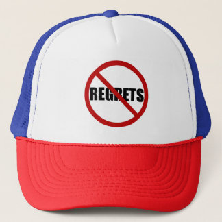 No Regrets Sign Typography Hat
