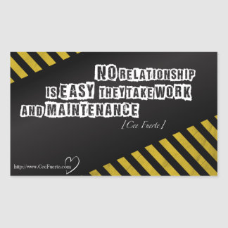 No Relationship Is Easy Rectangular Sticker