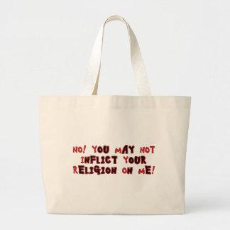 No Religion Jumbo Tote Bag