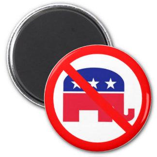 No Republicans 6 Cm Round Magnet