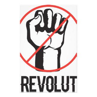 no revolution stationery design