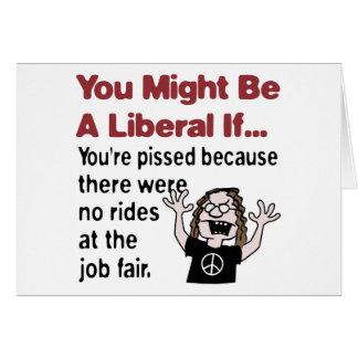 No rides at the job fair cards