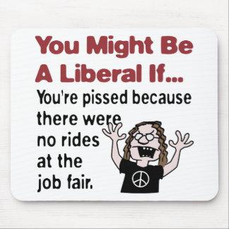 No rides at the job fair mousepad