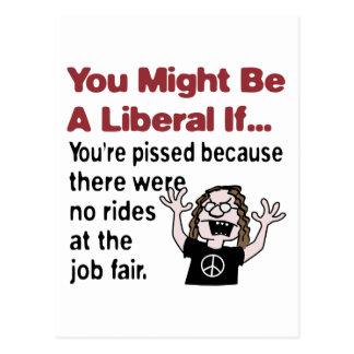 No rides at the job fair post cards