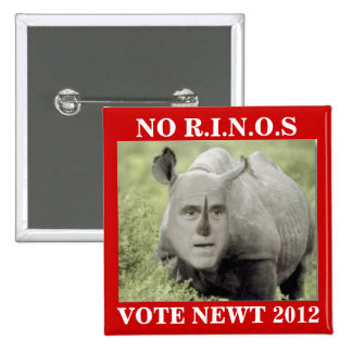 NO RINOS NEWT 2012 15 CM SQUARE BADGE