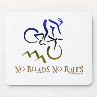 NO ROADS NO RULES MOUSE MAT